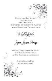 Wedding Invitations Wording Samples Catholic Wedding Invitation Wording Blueklip Com