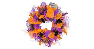 how to create a halloween deco mesh spider wreath the dollar