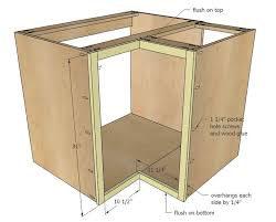 how to build a kitchen base corner cabinet white build a 36 corner base easy reach kitchen
