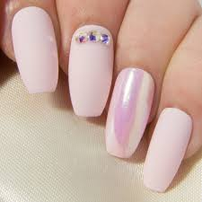 matte pink fake nails coffin press on nails holographic