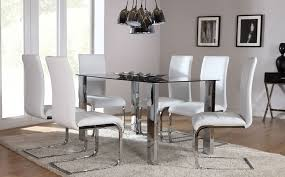 Perth Dining Chairs The Orion U0026 Perth Glass U0026 Chrome Dining Set White At Furniture