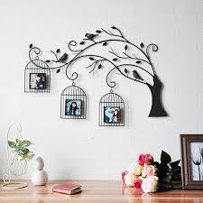 e home pared de metal arte de la pared decoración el árbol y la