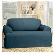 Sure Fit T Cushion Sofa Cover Amazon Com Sure Fit Soft Suede T Cushion Sofa Slipcover Smoke