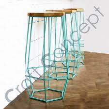 Metal Bar Stools With Wood Seat Blue Metal Bar Stool With Wooden Seat Blue Metal Bar Stool With