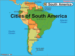 map of cities in south america cities of south america ppt