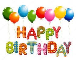 imagenes de cumpleaños sin letras letras de feliz cumpleaños con globos archivo imágenes vectoriales