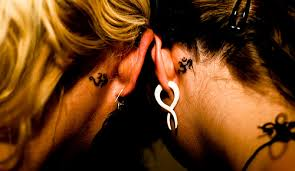 collection of 25 best moon on back ear