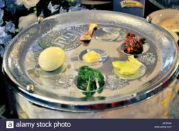 passover items during the passover ceder a sterling silver seder plate is used