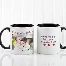 mug design for him personalized photo message coffee mugs loving him design black