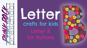 letter b for buttons best letter crafts for kids fun abc