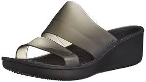 crocs women u0027s colorblockáwedgeáw heels sandals amazon co uk