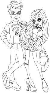 monster high coloring pages to print here printerkids monster