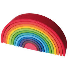 large wooden pieces grimm s 12 wooden rainbow tunnel large