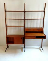 mid century italian bookshelf in teak 1950s for sale at pamono