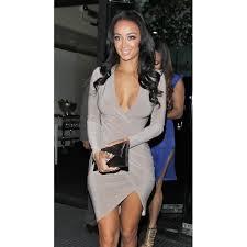 Long Draped Dress Grey Draped Bodycon Dress In The Style Of Draya Michele