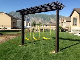 pergola swing pergola swing set i built for my kids yard pinterest pergola