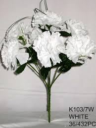 Wholesale Flowers Near Me Carnation Bush X 7 With Gypso K103 7w Ksw Wholesale Silk Flowers