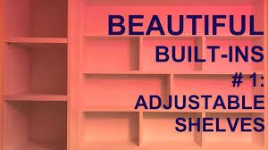 built in shelves 1 youtube