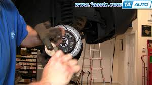how to install repair replace front brakes jeep grand cherokee 99