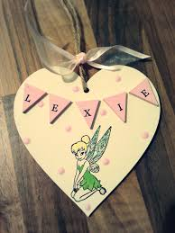 tinkerbell personalised name heart made by evie u0027s attic find us
