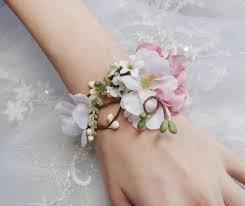 Wedding Wrist Corsage Pink Wedding Wedding Cuff Bracelet 2228577 Weddbook