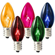 c7 transparent multi color replacement bulb