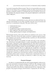 program design and management occupational health and safety in