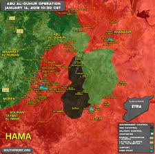 Map Of Syria And Russia Military Situation In Abu Al Duhur Area On January 16 2018 Syria
