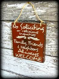 funny front door sign no soliciting sign custom wooden sign