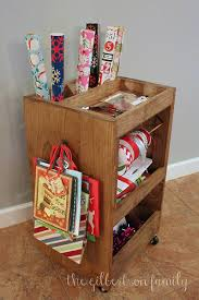gift wrap cart diy gift wrap cart the gilbertson family