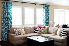 living room nice living room window treatments nice blue curtain