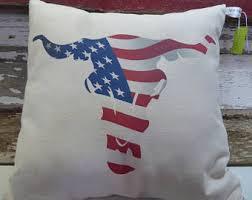 Decorative Longhorns Longhorn Pillow Etsy