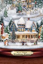 thomas kinkade u201cwondrous winter u201d musical tabletop christmas tree