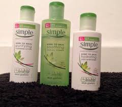 simple light moisturizer review simple skincare review kind to skin cleanser toner moisturiser
