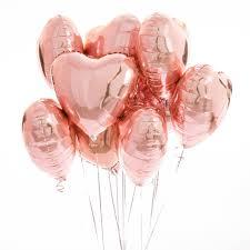 heart balloons inflated one dozen gold heart foil balloons by bubblegum
