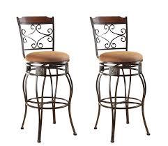 Bar Stool Sets Of 2 Acme 96045 Set Of 2 Tavio Swivel Bar Chair 29 Inch