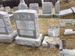 cemetery headstones headstones toppled in new york cemetery the forward