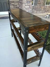 sofa table with wine rack pallet table with wine rack woodworking pinterest wine rack