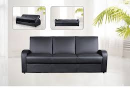 Faux Leather  Seater Sofa Bed Black Brown Cream Homegenies - Leather 3 seat sofa