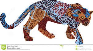 jaguar clipart jaguar in the ethnic pattern of indians stock images image 27673244