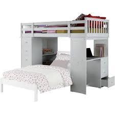 acme freya twin loft bed with bookshelf ladder white walmart com
