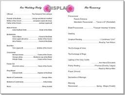 print wedding programs wedding program templates from thinkweddings print your own