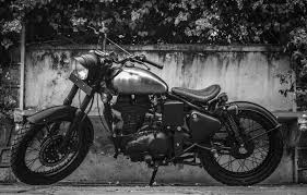 old cars black and white royal enfield classic 500 re 500 basic by rajputana customs left
