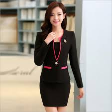 styles of work suites cheap nuevo 2015 otoño formales red blazer mujeres trajes con falda