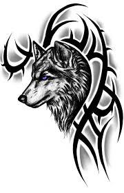 blue eye tribal wolf tattoos tribal wolf