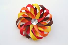 thanksgiving hair bows items similar to fall hair bow autumn hair clip thanksgiving
