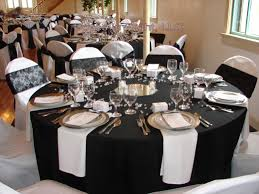 Black And White Decor by Chair Covers Of Lansing Table Decorations