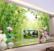 3d wall murals hd bamboo peony wallpaper high end mural for tv 3d wall murals hd bamboo peony wallpaper high end mural for tv sofa background wall papel de parede floral in wallpapers from home improvement on