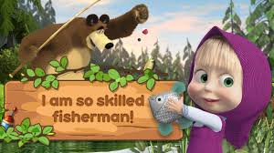 masha bear kids fishing android apps google play
