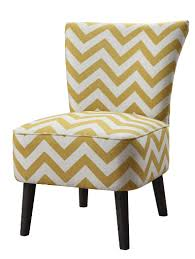 Chevron Armchair Yellow Chevron Print Accent Chair Furniture And Interior Design